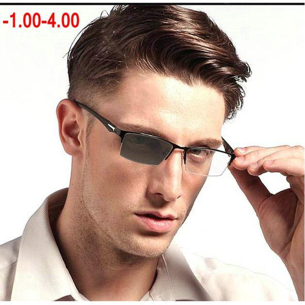 New Photochromic Glasses Frame Men Eyeglasses Computer Optical Prescription Reading Clear Eye Lens male Finished Spectacle NX