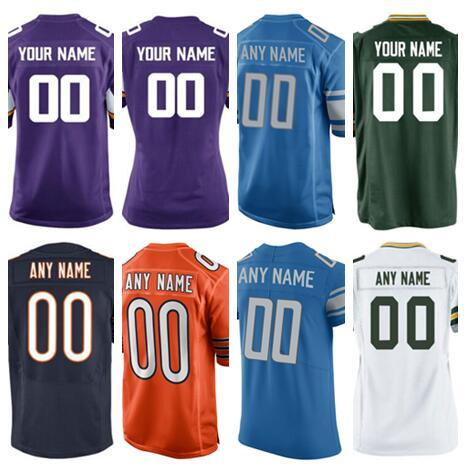 9a37f9cb3 Personalized Green Chicago Bay Vikings Packers Bears Lions american  football jerseys custom Salute to Service color rush jersey all stitched