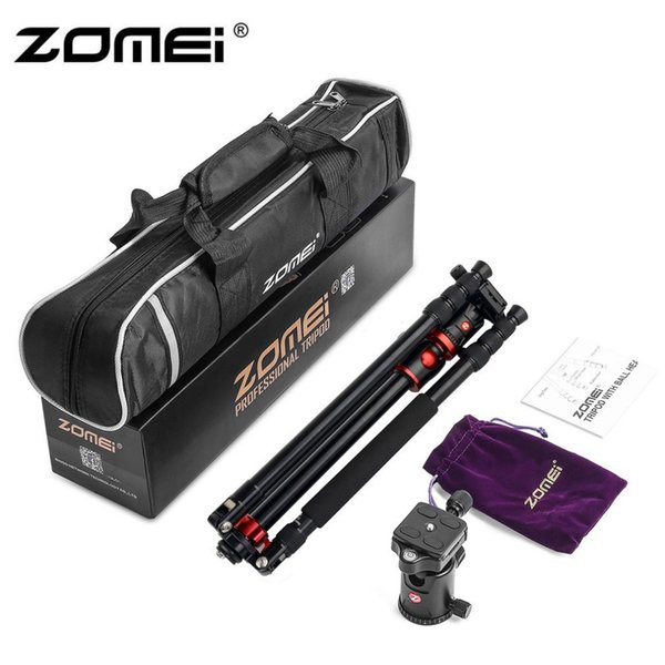 """ZOMEI Aluminum Alloy Professioional Camera Tripod 75.6"""" Foldable 4 Sections Tripods With 360 Degree Ball Head For DV DSLR Camera"""