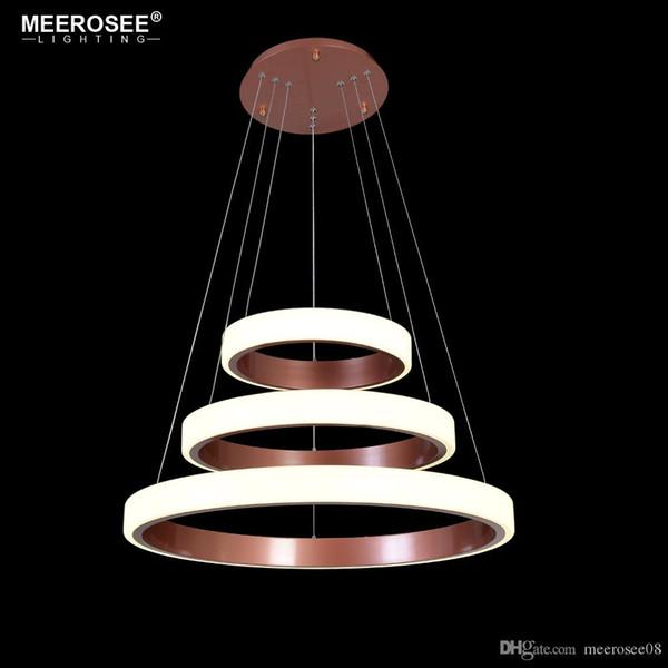 Neue ankunft 3 ringe led pendelleuchte für wohnzimmer esszimmer led lustre moderne pendelleuchte hängeleuchte