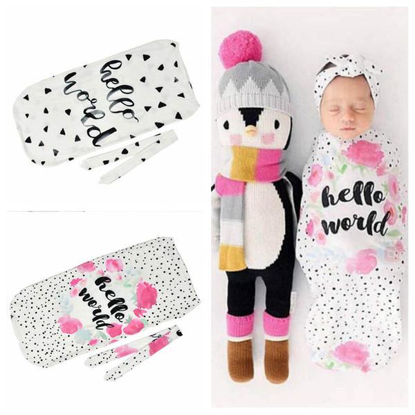 "best selling Newborn Baby Sleeping Bags INS ""hello world"" Letter Print Baby Sleeping Bags Baby Cocoon Sleeping Bag Set Toddler Sleep Sacks YL118"