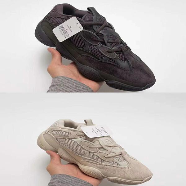 500 Kanye West Desert Rat Super Moon Yellow Blush Utility Black Women Men Running Shoes Outdoor boots Sports Sneakers