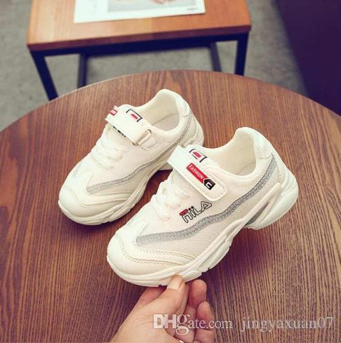 Baby Shoes Kids Shoes Girls and Boys Little Sports shoes student sports shoe Spring Autumn boys net shoe Size 26-37 Best Selling 301