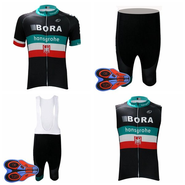 BORA team Cycling Short Sleeves jersey bib shorts 9D gel pad Sleeveless  Vest sets New bicycle breathable mountain biker men D1948 ef1fe144b