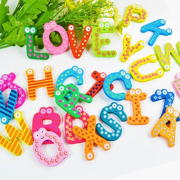 Baby Toys 26pcs Letters Kids Wooden Alphabet Fridge Magnet Child Educational Toy