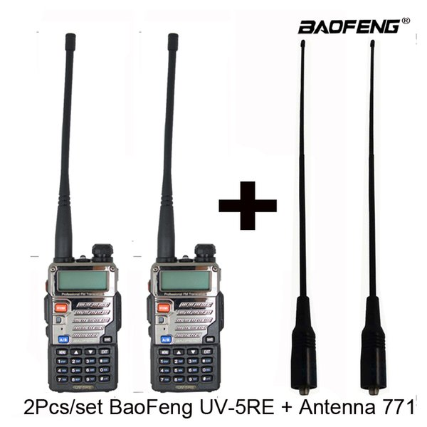 BaoFeng UV 5RE Walkie Talkie UV 5RE Two Way Radio UV5RE Radio Two Way  Station Transmitter + Soft Long Antenna 771 Handheld Radio Mobile Radio  From