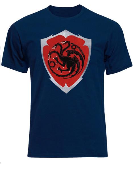 House Blackfyre Coat Of Arms Targaryen Shield Inspired Mens Tshirt Tee Top AE56 Cool Casual pride t shirt men Unisex New Fashion tshirt