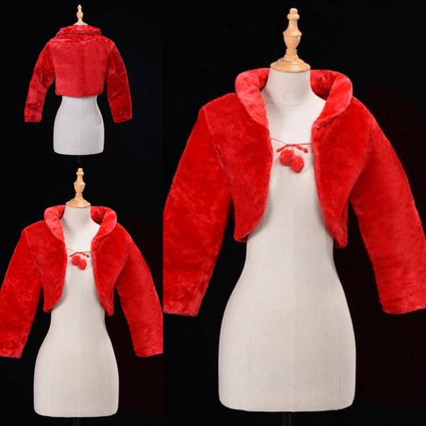 Seulement $ 6.99 Hiver Bridal Wraps Bolero Faux Fourrure Pour Le Soir De Fête De Soirée Veste Manteau Vintage Manches Longues Châle Belore CPA1276