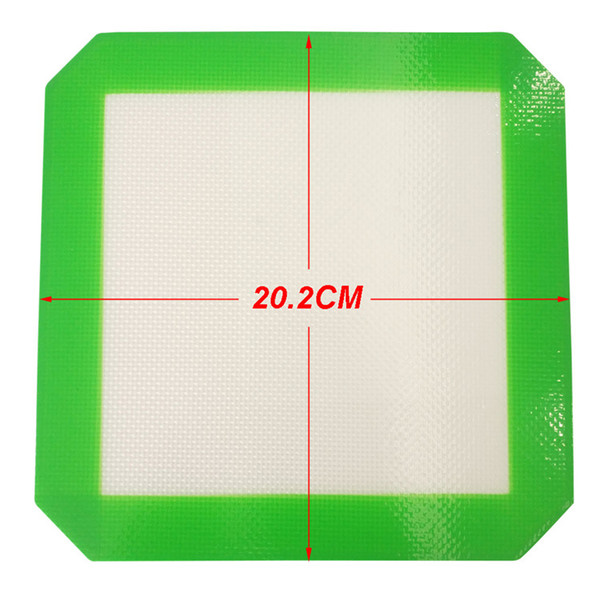 FDA approved Food grade square non-stick slick oil silicone mat dab bho wax mat with silicone and fibreglass construction dab pads 202x202mm