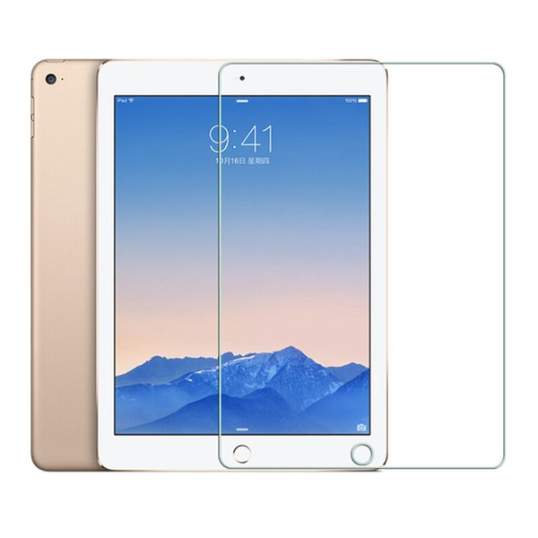 "top popular Tempered Glass For iPad 9.7 2017 2018 5th 6th Generation A1954 Screen Protector Film For iPad air air 2 Pro 9.7 "" 2016 2019"