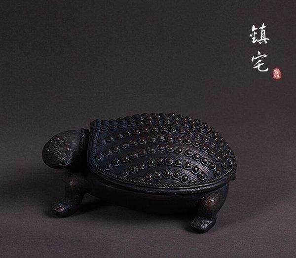 черный творческий смолы черепаха статуя ящик для хранения домашнего декора ремесла украшения комнаты повезло старинные черепаха орнамент фигурки искусства