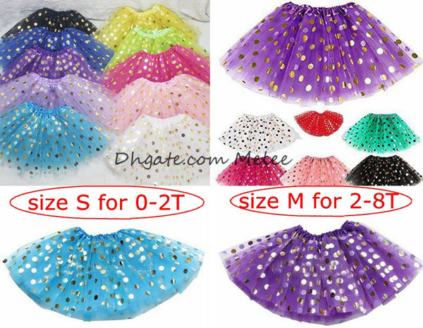 best selling ins kids gold dot tutu dress skrit girls polka 3layers tutus skrits infant pettiskirt newborn photography props 0-8years,10colors choose
