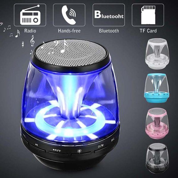 M28 Wireless Bluetooth Speakers Powered Subwoofer LED Light Support TF Card FM MIC Mini Digital Speaker car hands-free calls 4 color