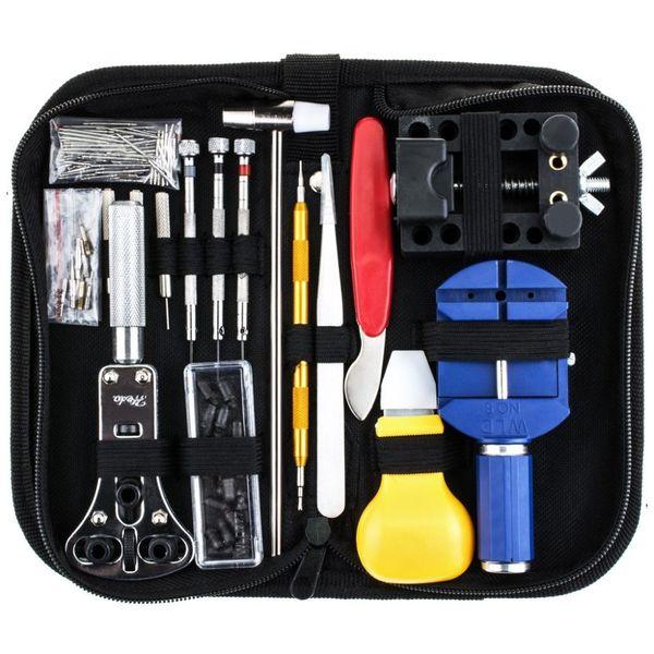 147Pcs Kit di strumenti di riparazione per orologi Kit di apertura per cancelli a molla Tool di rimozione per orologeria 20.5x10x4.5cm