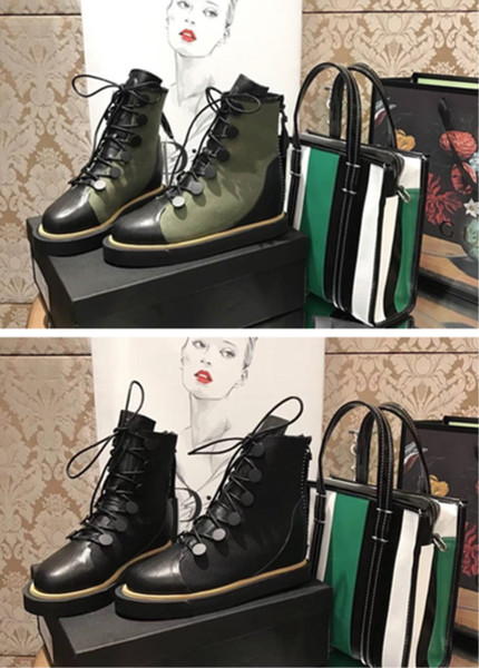Brand shoes Production factory custom Fashion trends Italian Leather soles The cowboy cloth The fabric Female flat heel short boots.