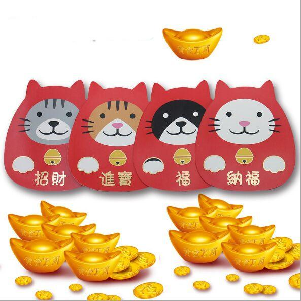 10.8x12cm cartoon animal red envelope for new year chinese new year gift lucky red envelope