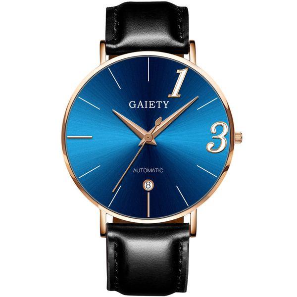 Relojes de lujo del amante de moda nuevo reloj de pareja correa de cuero línea de cuarzo analógico Ladies WristWatches regalo montre homme A70