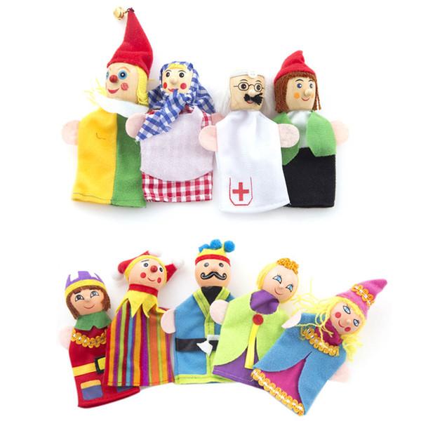 Jouets à doigts roi et clown marionnettes à main cadeau de Noël bébé jouet éducatif en gros