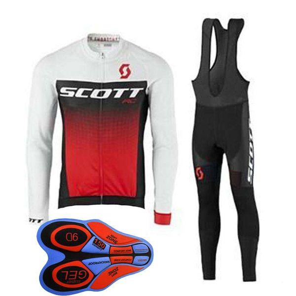 Maglia SCOTT squadra manica lunga maglia (bavaglino) pantaloni set mens quick dry tendenza vendita calda 61301X traspirante