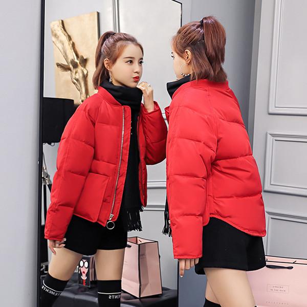 Women Winter Basic Jacket Tops Cotton Padded Short Slim Hooded Female Coat Womens Jackets Casaco Feminino Inveno 2018 New