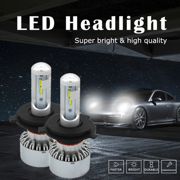 WLJH High Power Car Light H4 LED Headlight All In One Conversion Kit 9003 Hi/Lo Beam Headlamp HB2 Dual Beam 2Year Warranty
