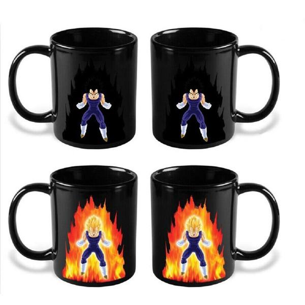 Taza de Dragon Ball Z Taza de Goku de dibujos animados Taza de colores cambiantes Super Saiyan Coffee Cups C5010