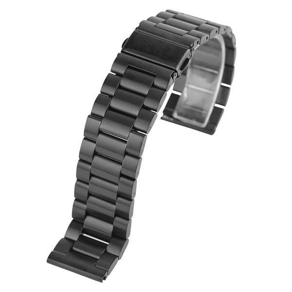 20/22mm Evrensel Milanese Watchband Tutuşunu Izle Bant Mesh Paslanmaz Çelik Kayış Bilek Kayışı Siyah Bilezik