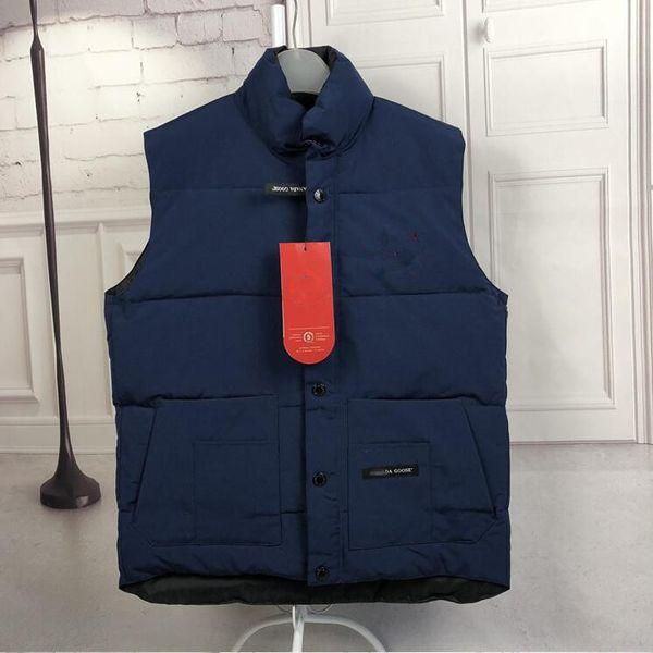 top popular 2019 men's Canada Christmas gift winter Outdoor warm goose down vest jacket cotton vests Outerwear Coats 6 colors size S-XXL 2019