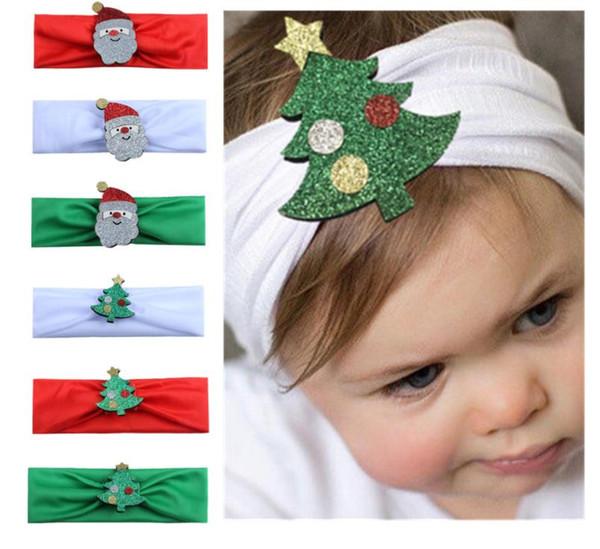 Compre Navidad Niña Bebé Arco Diadema Punto De Onda Turbante Giro Cabeza Envoltura Nudo Trenzado Cinta De Pelo Suave Bandas Bandanas Con Imágenes De