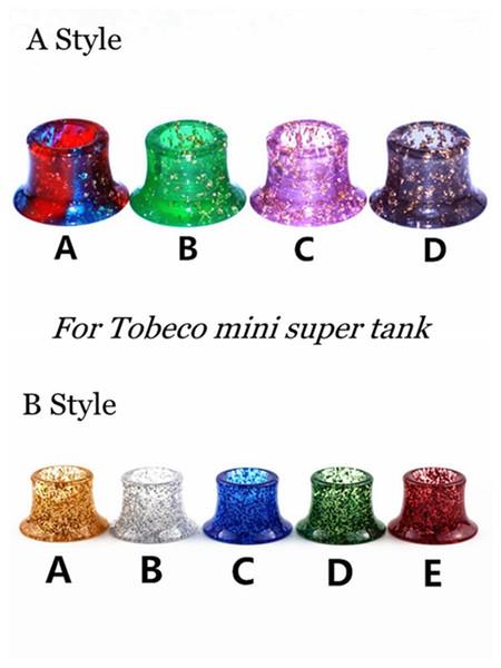 2 Styles Mini Super Tank Epoxy Resin Shiny Shine Drip Tips Shining Mouthpiece For Tobeco MINI SUPERTANK Drip Tip Wide Bore Vape Atomizer