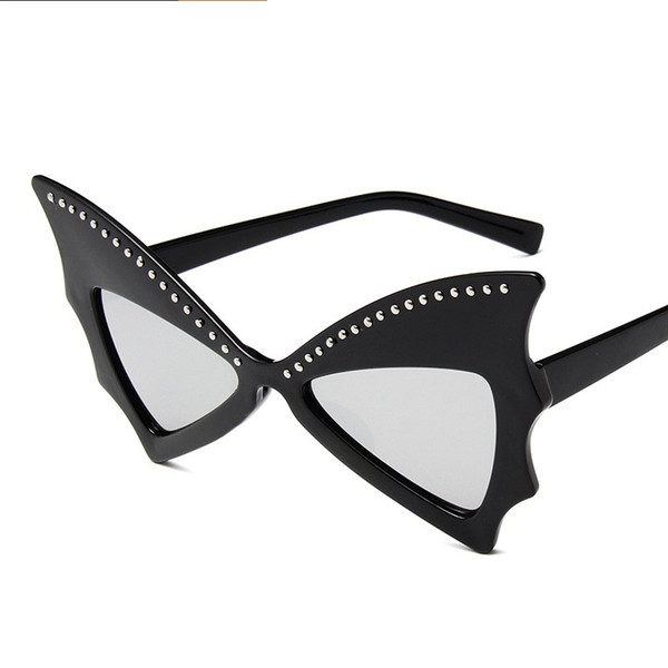 cb146bba96a7 dance sunglasses Promo Codes - Women Men Vintage Rivet Butterfly Glasses  Big Frame Dancing Party Stage