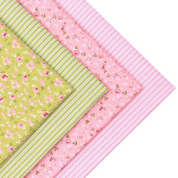 2pic/lot 40x50cm Cotton Fabric for Sewing tablecloth Patchwork Tissue pillow baby dress Bedding tecidos DIY Doll cloth fabrics