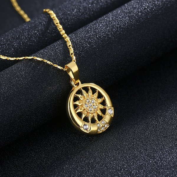 Top grade new product, 24K gold, Islamic totem, diamond / male fashion necklace, sweater chain A238#