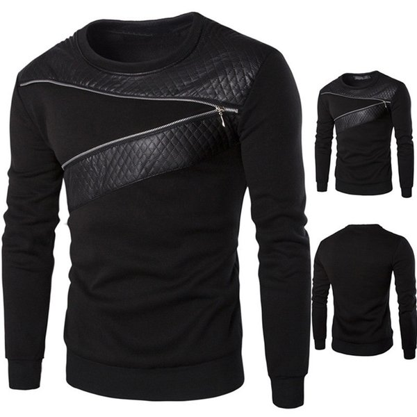 pu leather jacket men winter jackets Men Winter Warm Splicing Leather Sweatshirt Coat Jacket Outwear Sweater for Business Casual
