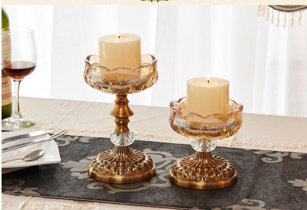 Flower shape Modern Iron Crystle candle holder, 1-arm candelabra with 1 free candles, decorative candle stick CD06