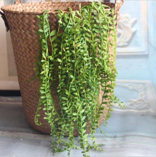 Artificial Succulents Pearls Fleshy green Vine branches wall Hanging Plastic Rattan plants fall home wedding decoration flowers
