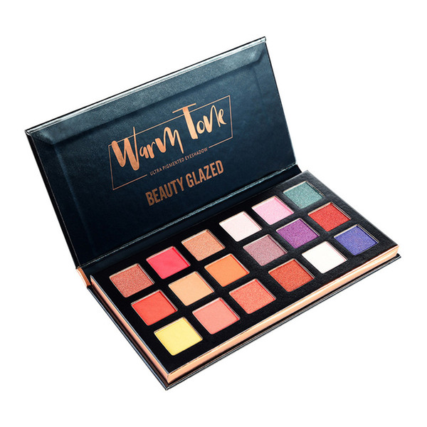 IN STOCK!!Hot Makeup Beauty Glazed 18colors Eyeshadow Palette Warm Tone Ultra Pigmented Eye Shadow Top quality DHL shipping