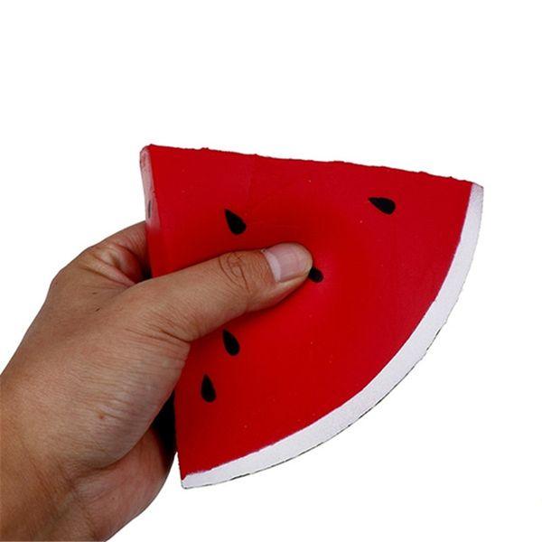 Jumbo melancia Squishy Fruit Phone Strap Lento Rising Pacote De Varejo Creme Pingente Perfumado Pão Kid Toy Presente Divertido