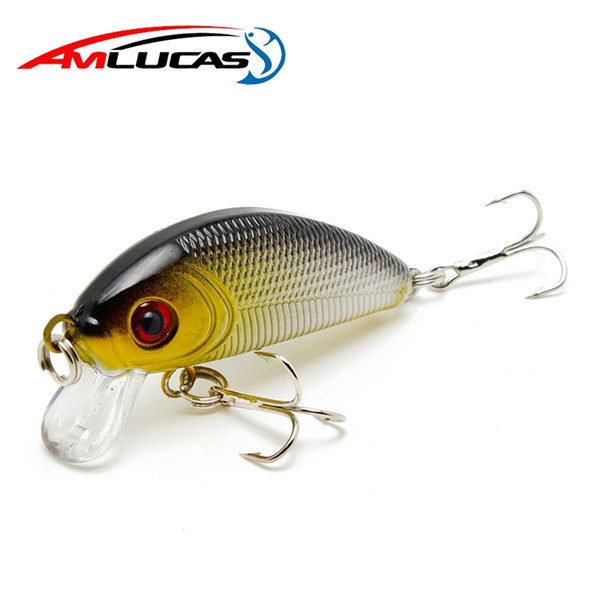 Amlucas Minnow Fishing Lure 50mm 3.6g Topwater Hard Bait Japan Crankbait Carp Fishing Wobblers Artificial Tackle WE203 Y1890402