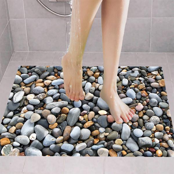 Autoadesivo del pavimento di disegno unico smontabile delle decalcomanie del murale Arte del vinile Living Room Decor PVC Emulational Bathing Room Wall Sticker # 32205