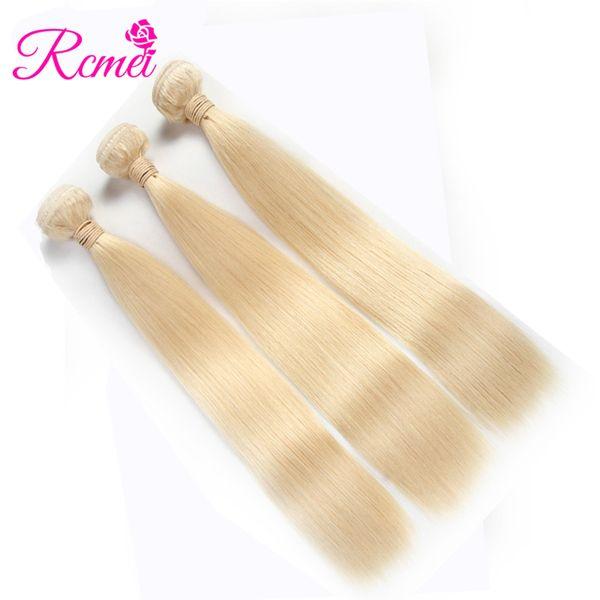Rcmei 613 Blonde Malaysian Straight Human Hair 3 Bundles For Hair Salon 100%Human Hair Weaving 10-30 Inch