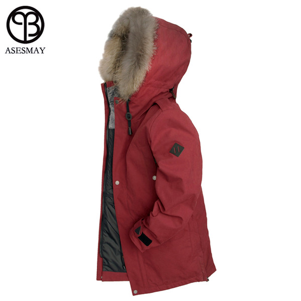Asesmay 2018 New Arrival Men Winter Jackets For Natural Fur Down Coats Thick Wellensteyn High Quality Goose Parka Casual Jacket