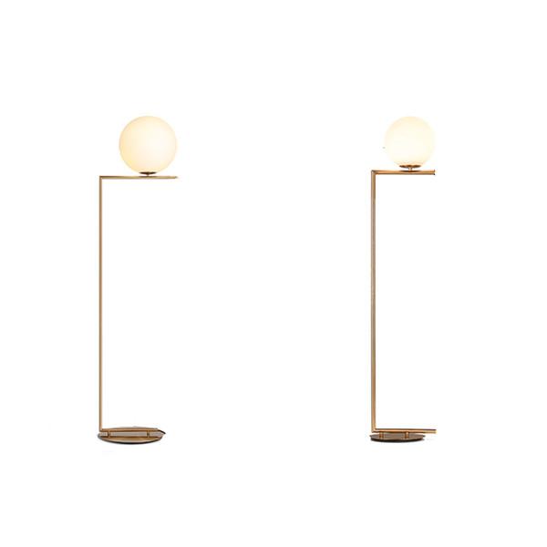 İskandinav Modern Led Demir Cam Altın Zemin Lambaları E27 Oturma Odası Zemin Işıkları Dekoratif Lambalar Mutfak Armatürleri Armatür Avize