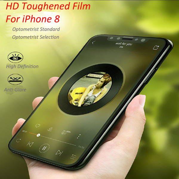 For iPhonex iPhone8 4.7inch Mobile Phone tempered glass screen protectors 9H Explosion proof Glossy Anti Scratch Toughened Glass Membrane