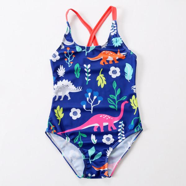 2018 New Badeanzug Mädchen One Piece Bademode Tier Verband Bodysuit Floral Kinder Beachwear Sport Badeanzug Badesachen