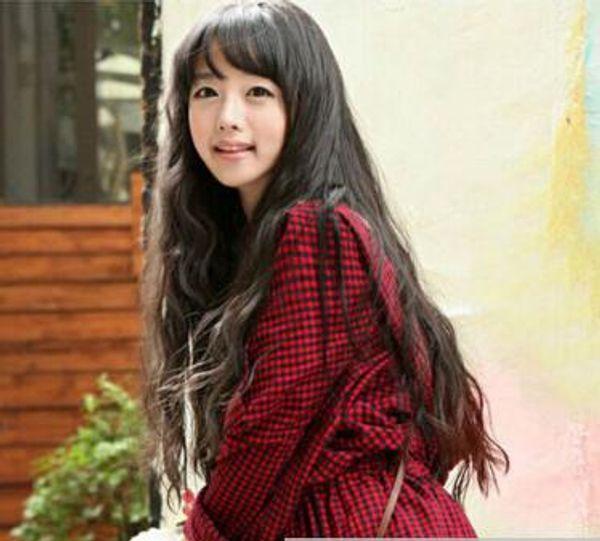 Free shipping ++++ Women Long Curly Hair Pelucas llenas Side Bangs Fashion Cpsplay Partido peluca