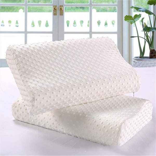 Ricostruzione lenta Memory Foam Pillow Care Bianco Old People Latex Cervicale Terapia Cuscini Corone Bomboniere Per Guest Regalo 20wa bb