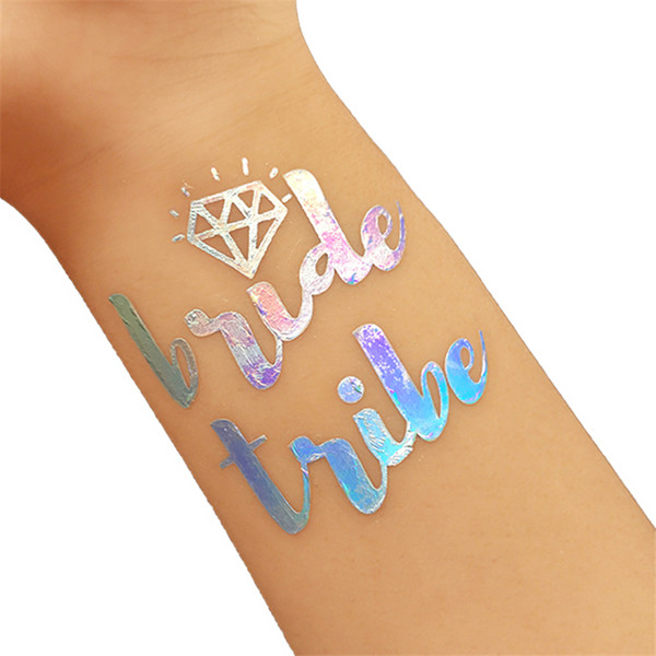 1 Pcs Team Bride Temporary Tattoo Stickers For Bachelorette Hen Party Bridesmaid Bridal Shower Wedding Party Decoration,Q