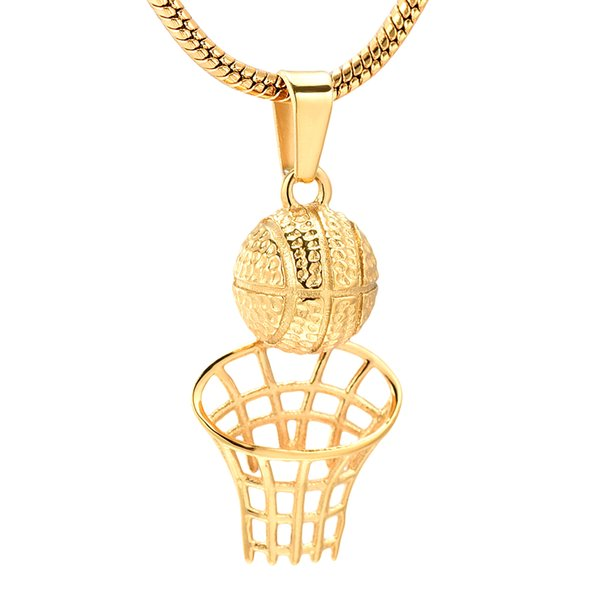 Cremation Necklace for Ashes Stainless Steel Basketball Memorial Urn Necklace Cremation Keepsake Jewelry For Unisex