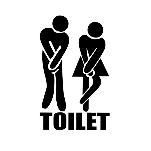 Funny Toilet Entrance Sign Decal Wall Sticker For Shop Office Home Cafe Hotel DIY Toilet Door Stickers Free Shipping